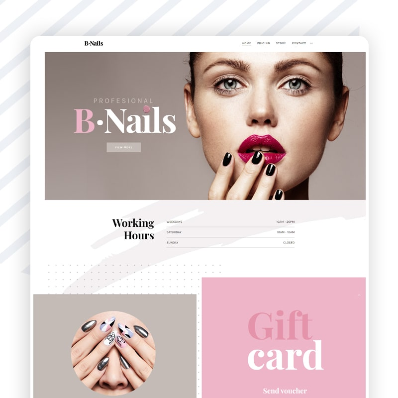 Nagelstudio Website