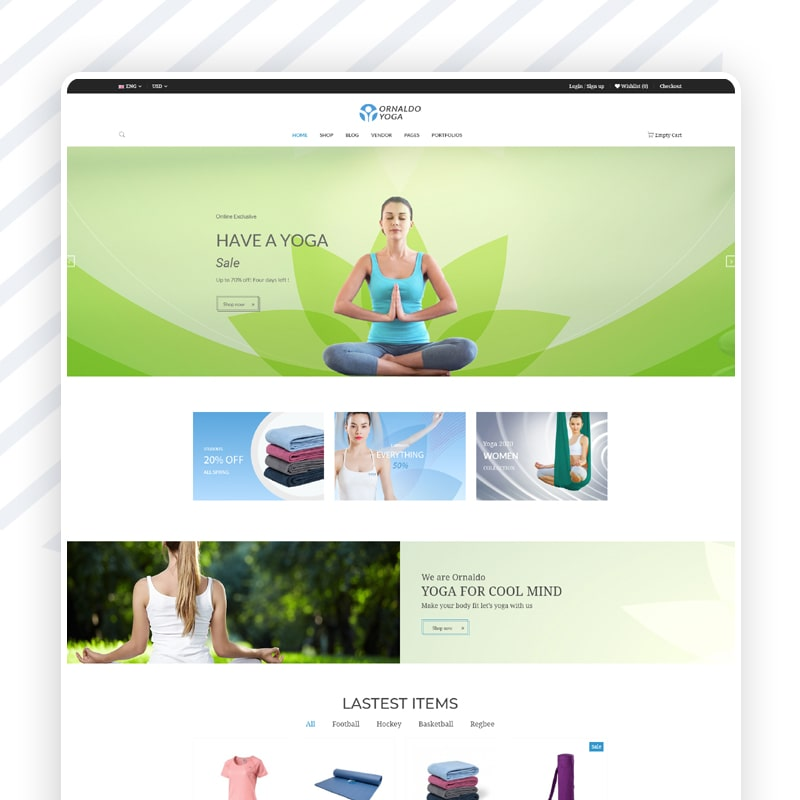 Yoga Onlineshop
