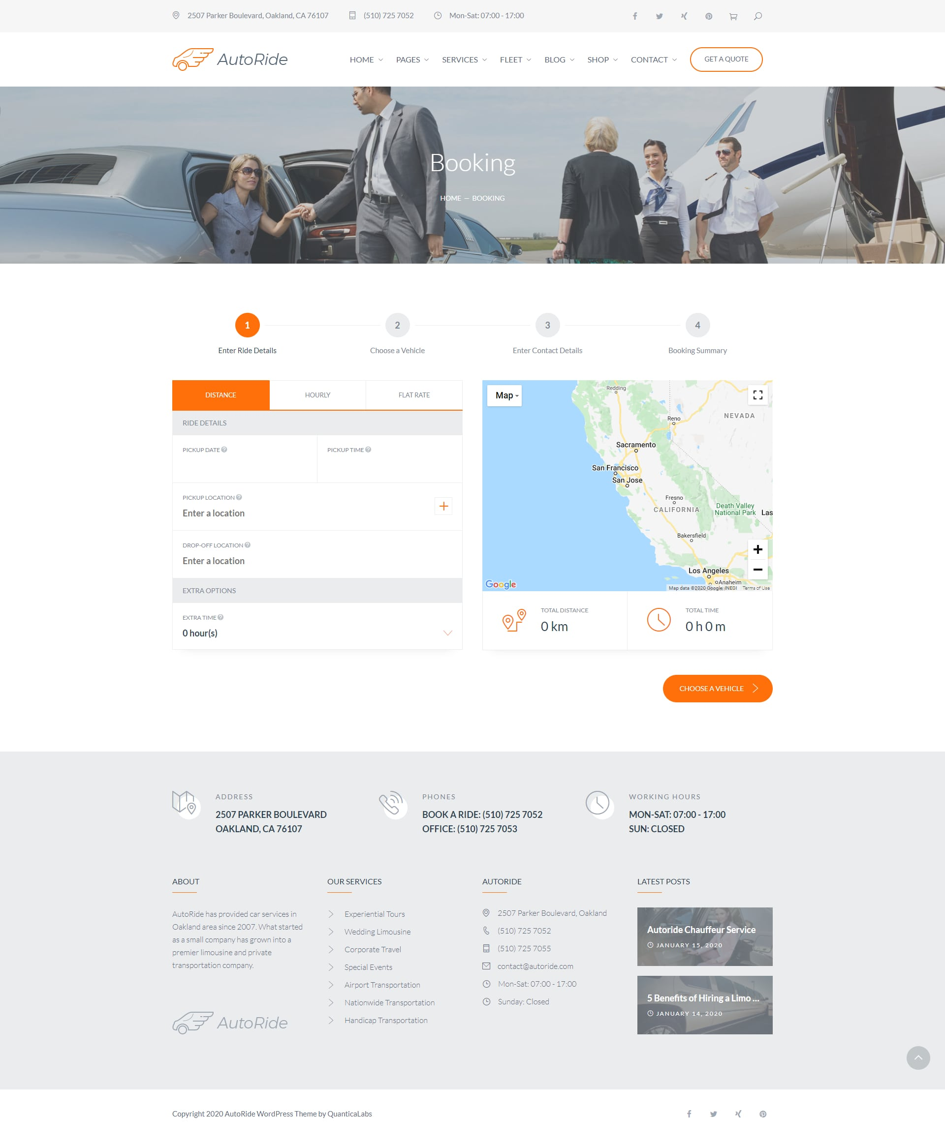 Airport taxi website